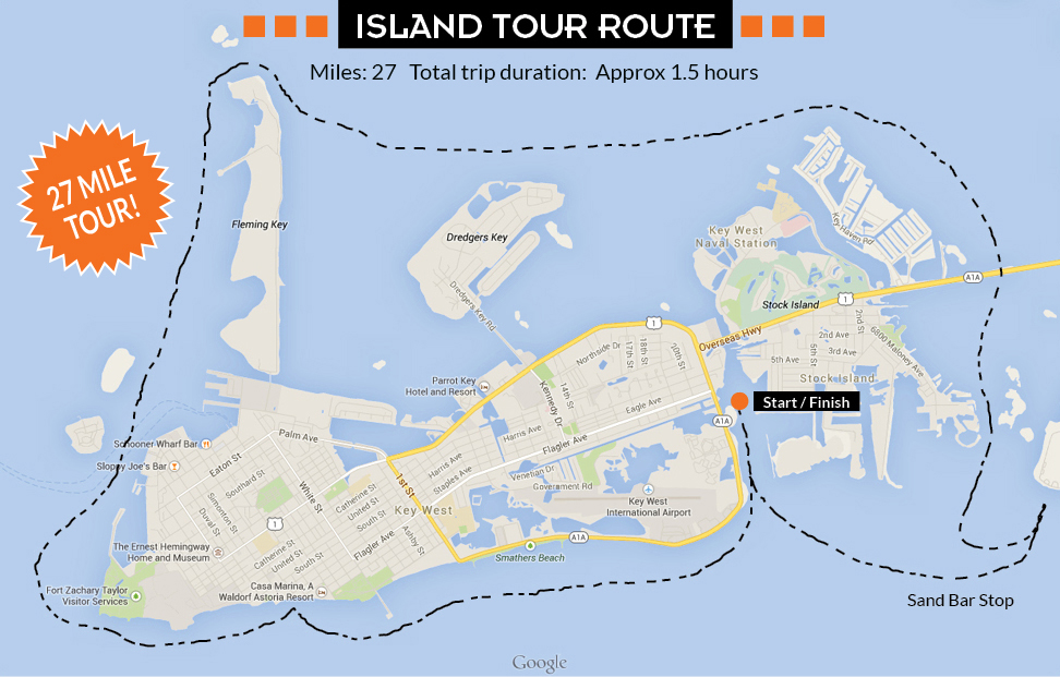 key west island tour map